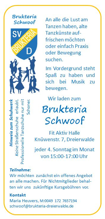 Brukeria Schwoof Flyer